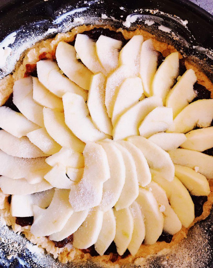 Crostata di mele e ciliege